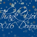 Thank You, 2016 Donors