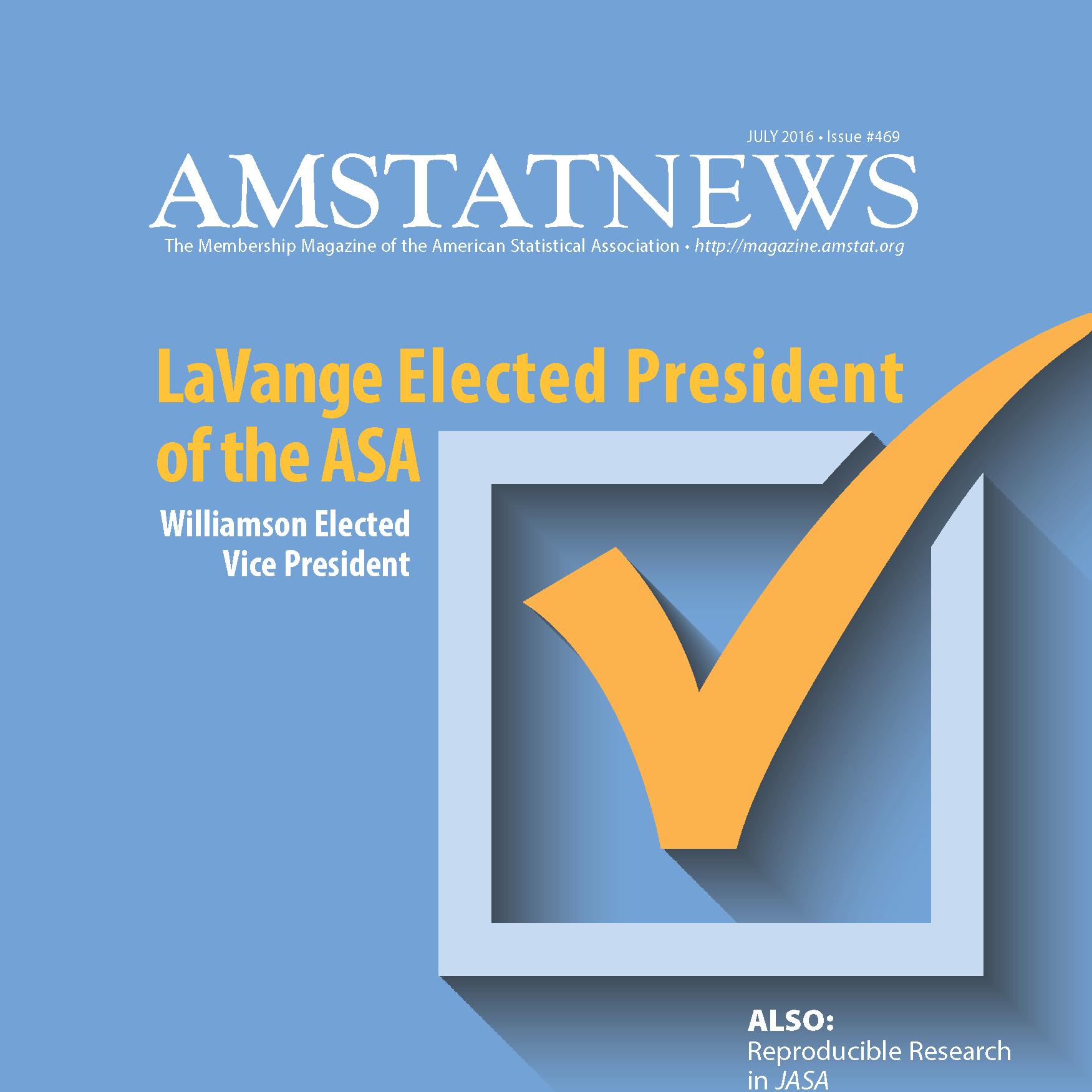 July Amstat News 2016