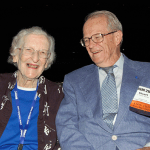 The 75th president of the ASA, Margaret Martin, with the 88th president, J. Stuart Hunter