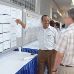"""Abera Wouhib presents the poster """"Trends in the Prevalence of Selected Chronic Health Conditions Among U.S. Adults by Sociodemographic Characteristics."""""""