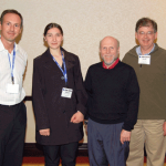 From left: Ciprian Crainiceanu, Tatevik Zohrabyan (ASA Educational Ambassador), Raymond Carroll, and David Ruppert