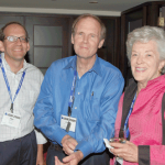 From left: Hal Stern, Fritz Scheuren, and Katherine Wallman mingle during the ASA president's invited speaker reception.