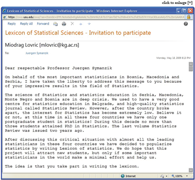 email invitation from May 2009 that further described the motivation for the lexicon.