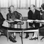 From left: Steinberg, Ida Merriam, Jack Carroll, and Lenore Epstein, Bixby Office of Research and Statistics, 1970