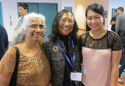 From left: Nagambal Shah, Juanita Tamayo Lott, and Angela Madriaga at StatFest 2012