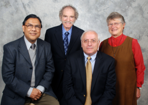 From left: Nitis Mukhopadhyay, Miron Straf, Steve Fienberg, and Judith Tanur