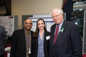 Sastry Pantula, director of the NSF Division of Mathematical Sciences; Genevera Allen; and Rep. David Price (D-NC)