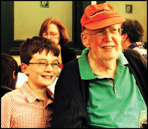 Charles Louis Kincannon with his grandson, Aidan, on Father's Day 2012