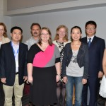 Section on Statistics in Epidemiology awards, winners of the Young Investigator award with section officers. Back row: Melissa Begg, John Neuhaus, Bets Halloran, and award winner Zijian Guo. Front row: award winners Qianchuang He, D. Leann Long, Fan Yang, Jing Zhang