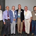 A celebration of J. Stuart Hunter's contributions to Technometrics and statistics. From left: Roger Hoerl, David Steinberg, J. Stuart Hunter, Richard DeVeaux, Brad Jones, Hugh Chipman