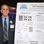 Dr. Nat Schenker shows off the ASA 175th Anniversary display.