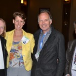 COPSS 50th reception: Jane Pendergast, Sally Morton, Nick Jewell, and Mitch Gail