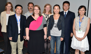 From left: Melissa Begg (past section chair), Qianchuan He (2013 young investigator award winner), John Neuhaus (section chair-elect), D. Leann Long (2013 young investigator award winn