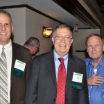 Longtime members reception: ASA President-elect Nathaniel Schenker, Past-President Bob Rodriguez, and Past-President Fritz Scheuren