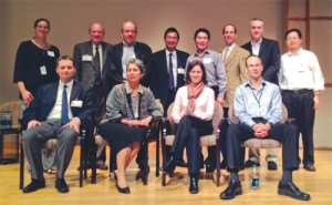 From left, first row: Michael Pencina (Duke), Liz DeLong (Duke), Sara Hughes (GSK), John Whittaker (GSK); From left, second row: Robin White (GSK), Kerry Lee (Duke), Stephen George (Duke), Shein-Chung Chow (Duke), Shuyen Ho (GSK), Steve Novick (GSK), Paul McSorley (GSK), Xiaofei Wang (Duke)