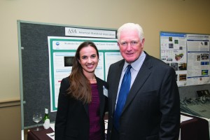 Genevera Allen with Jim Moran (D-VA), whose district includes the ASA headquarters