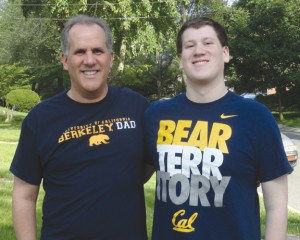 Nathaniel and Joseph Schenker display their Cal apparel.