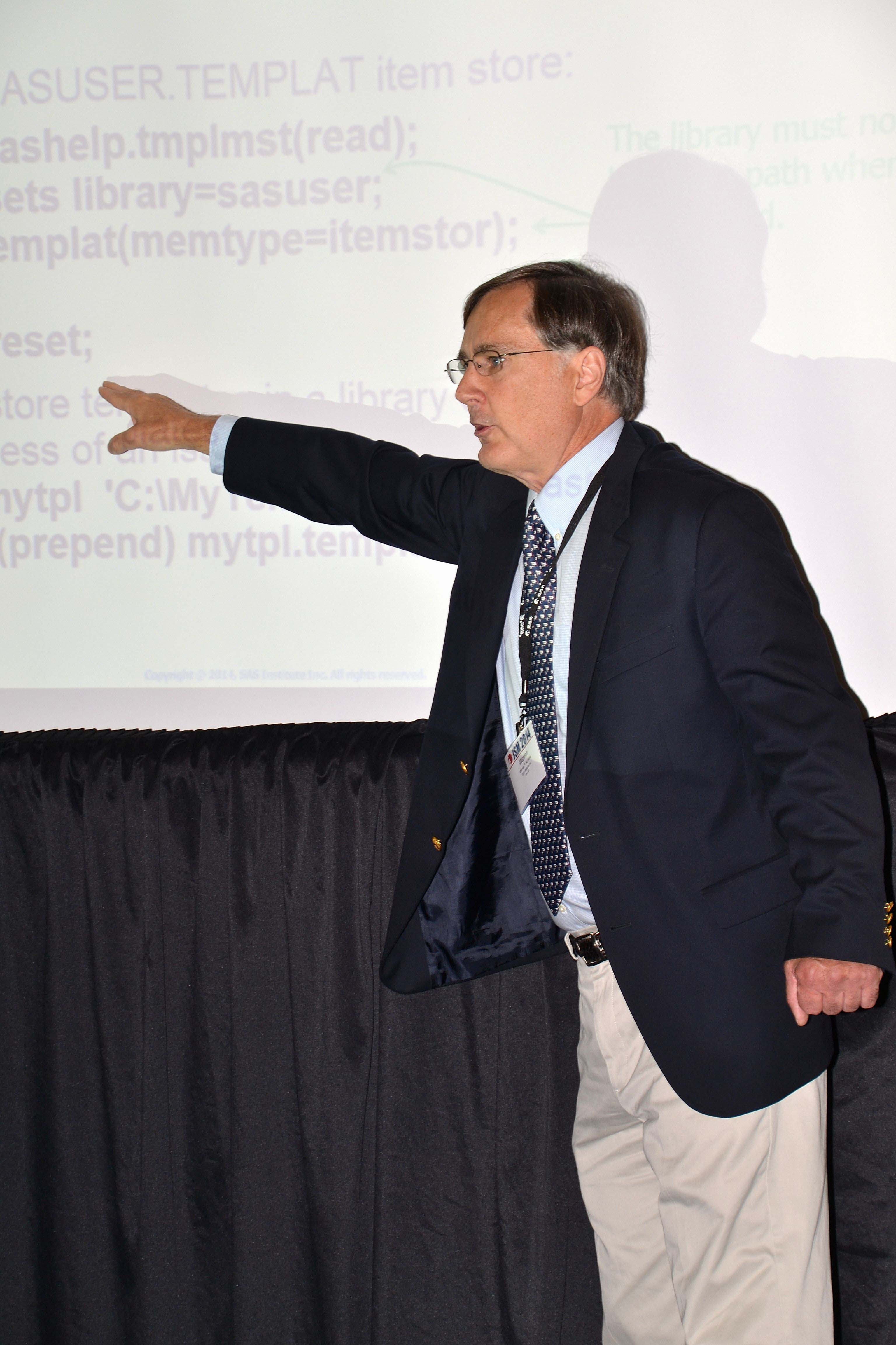 Warren Kuhfeld of SAS Institute presents Creating Statistical and Clinical Graphics in SAS®, a computer technology workshop