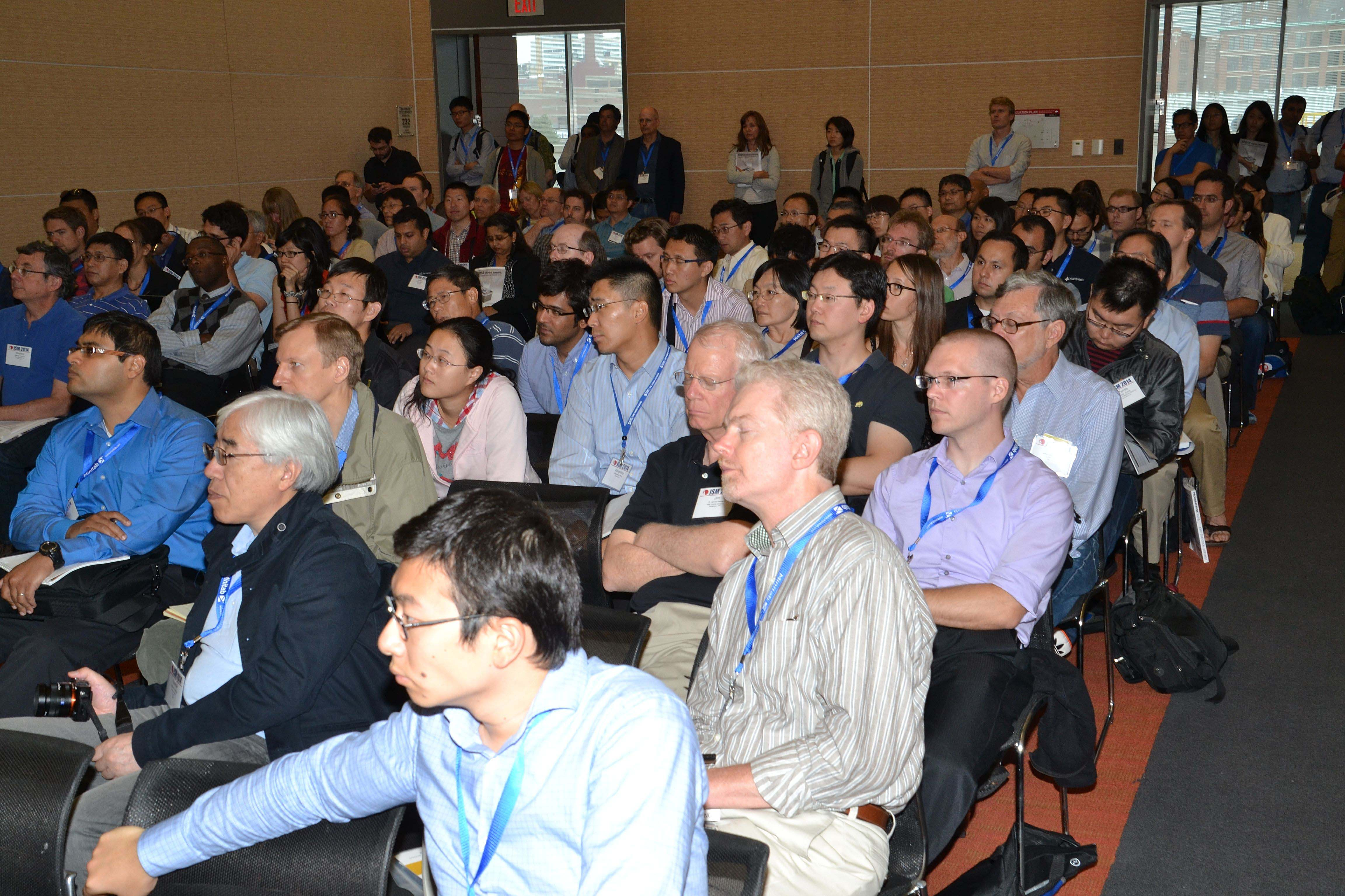 Attendees listen in the session Tradeoffs in Big Data Modeling