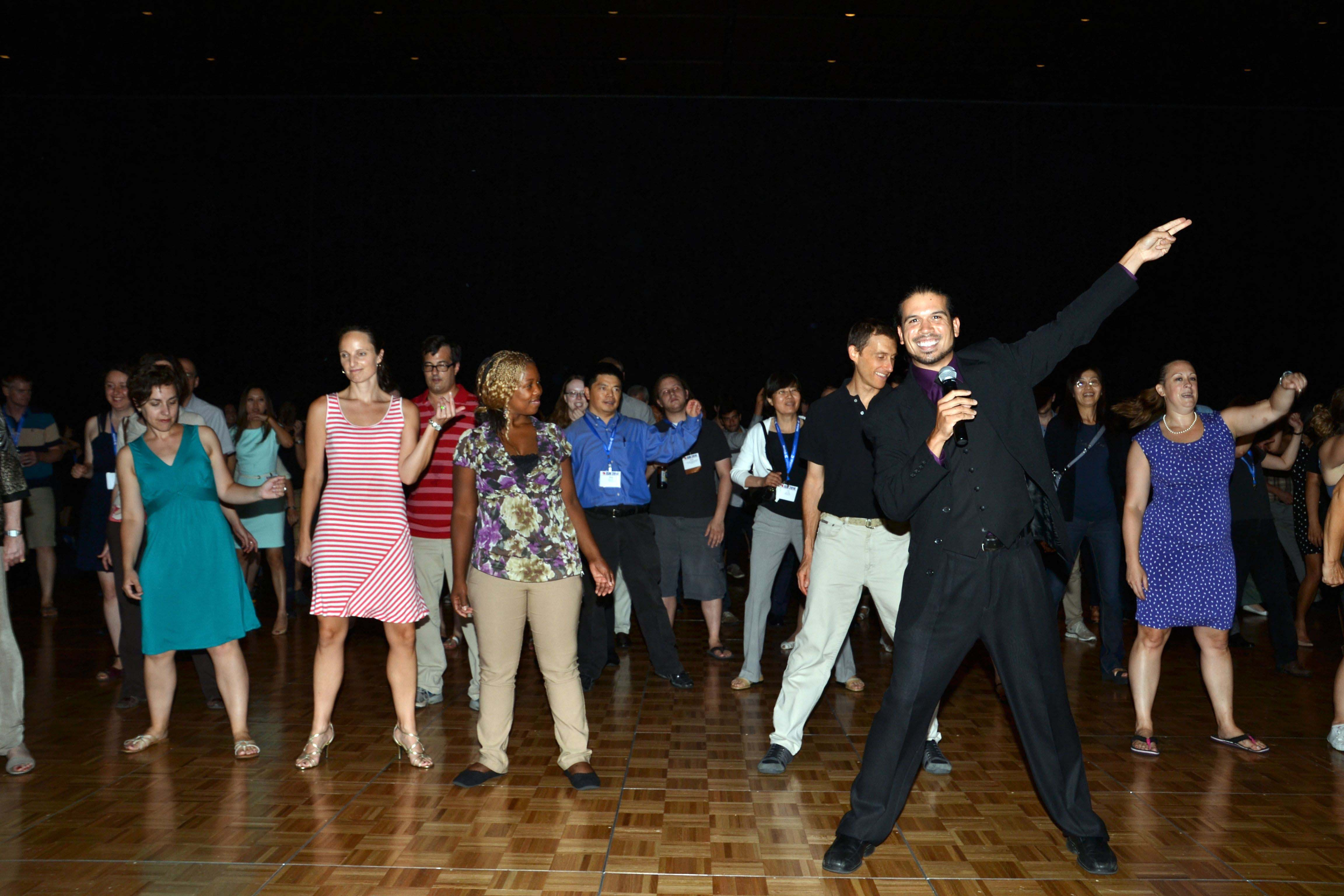 DJ El Rey (Robert Greel) keeps things going on the dance floor during the Dance Party and Lounge