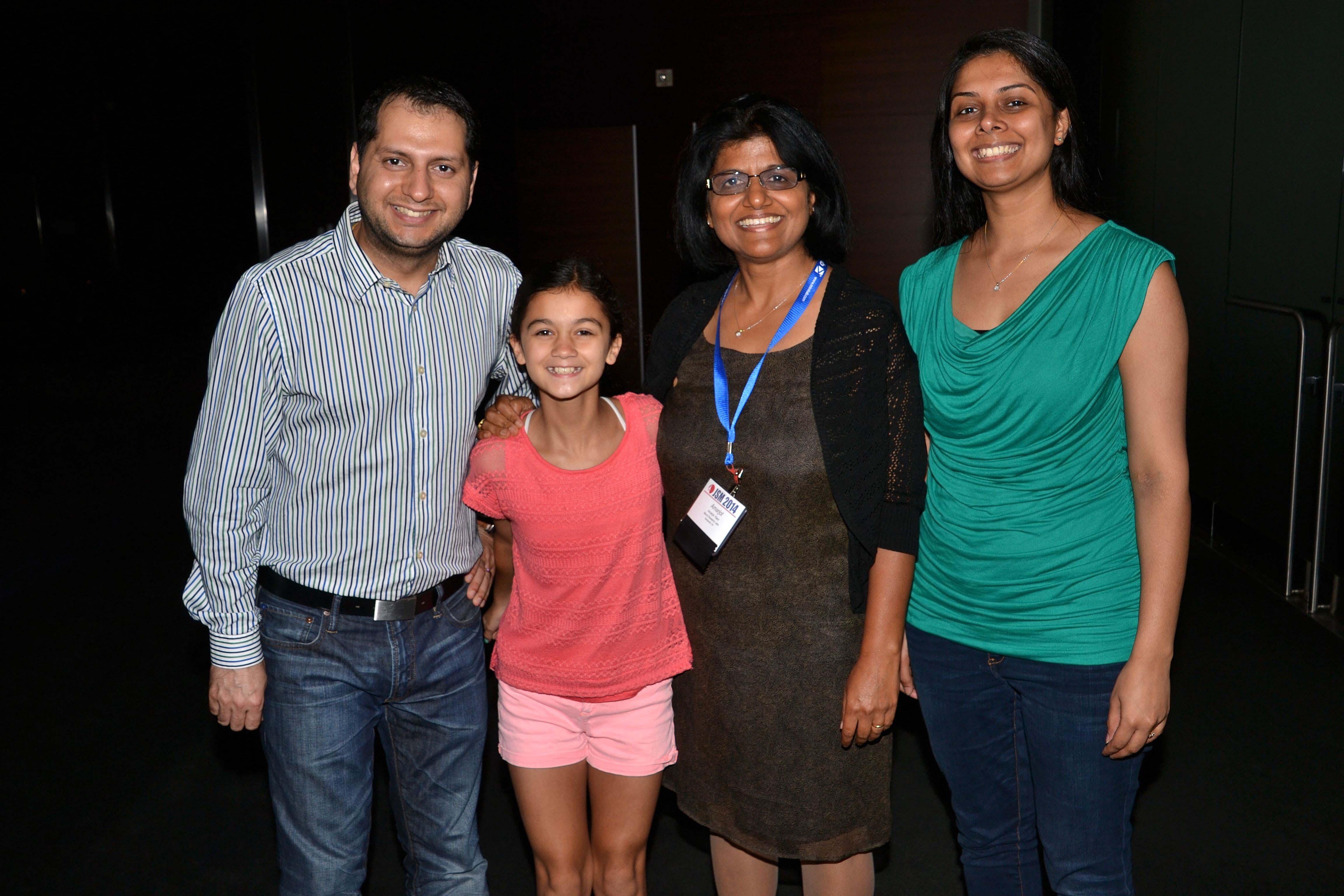 2014 Fellow Amarjat Kaur (second from right) with her family