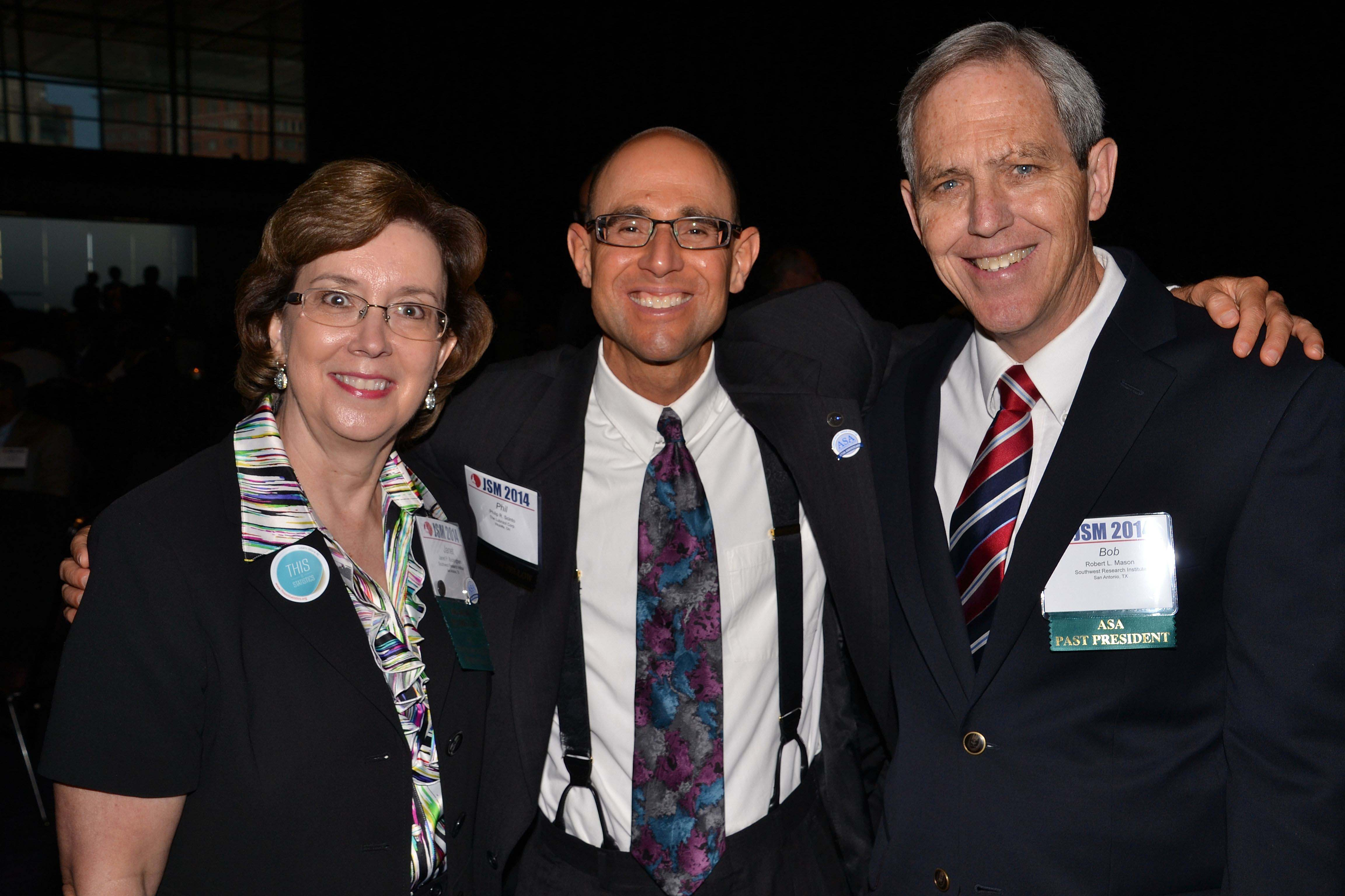 From left: Janet Buckingham, 2014 Fellow Phil Scinto, and Bob Mason