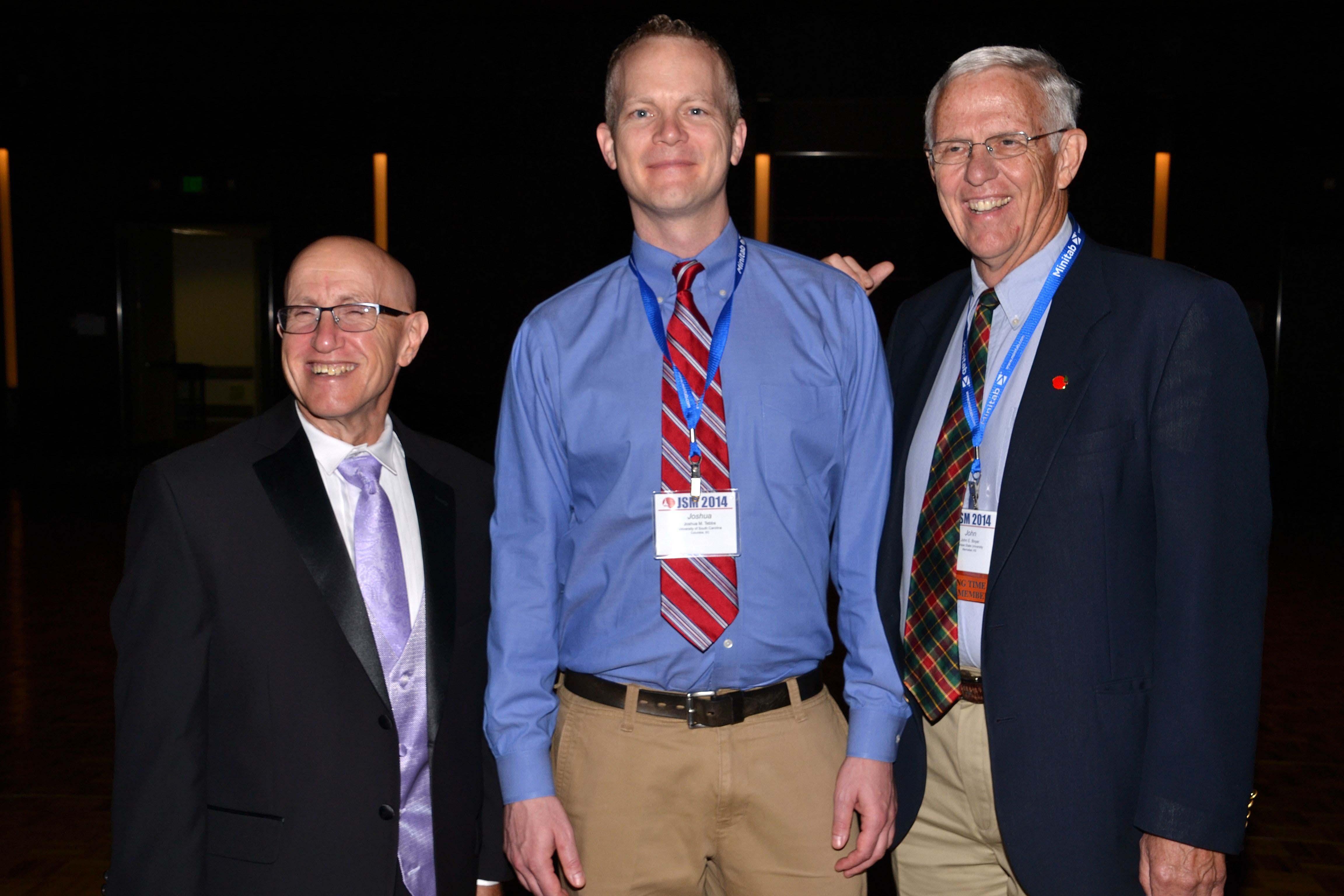 ASA President Ron Wasserstein with 2014 Fellows Joshua Tebbs and John Boyer