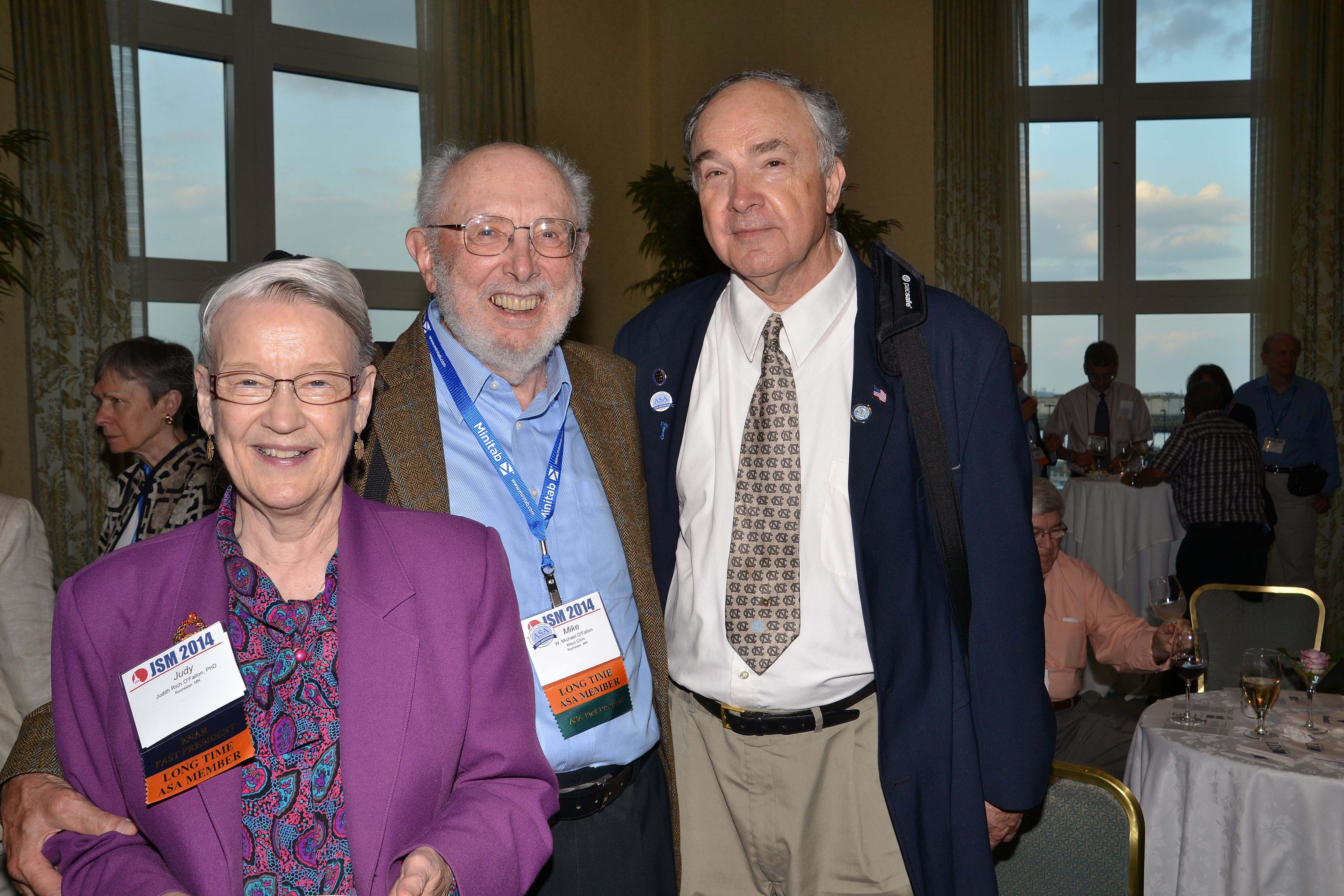Judy and Mike O'Fallon join Gary Grove Koch at the Longtime Member Reception