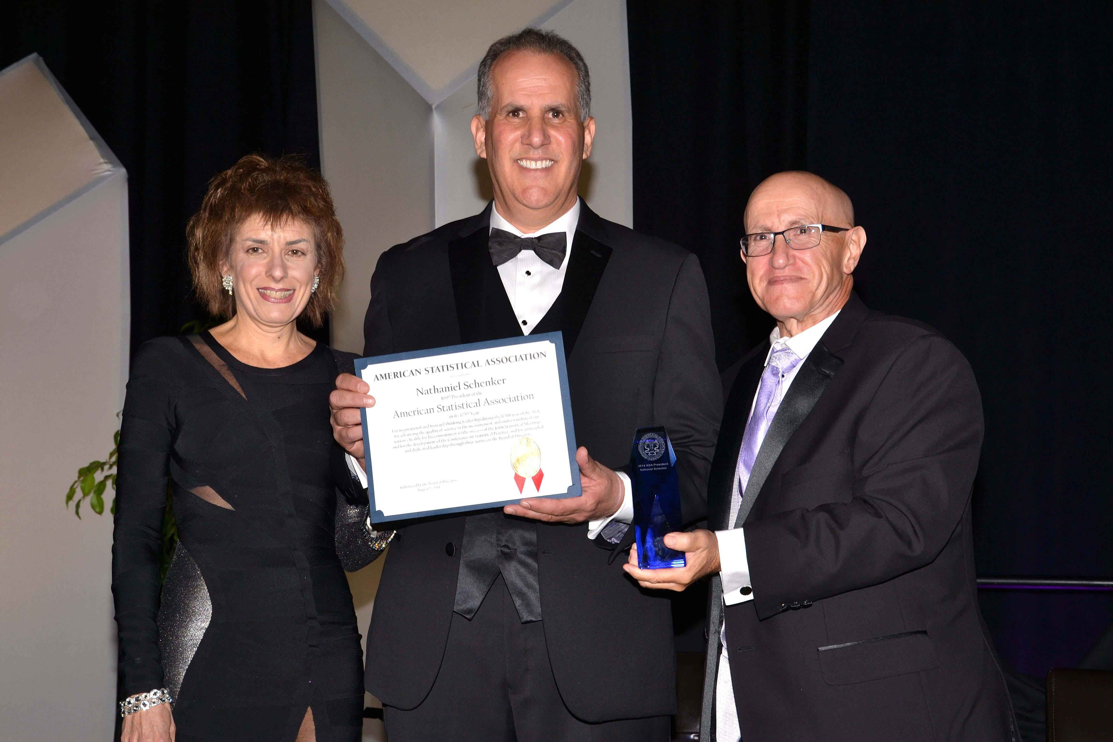 From left: Marie Davidian, Nat Schenker, and Ron Wasserstein