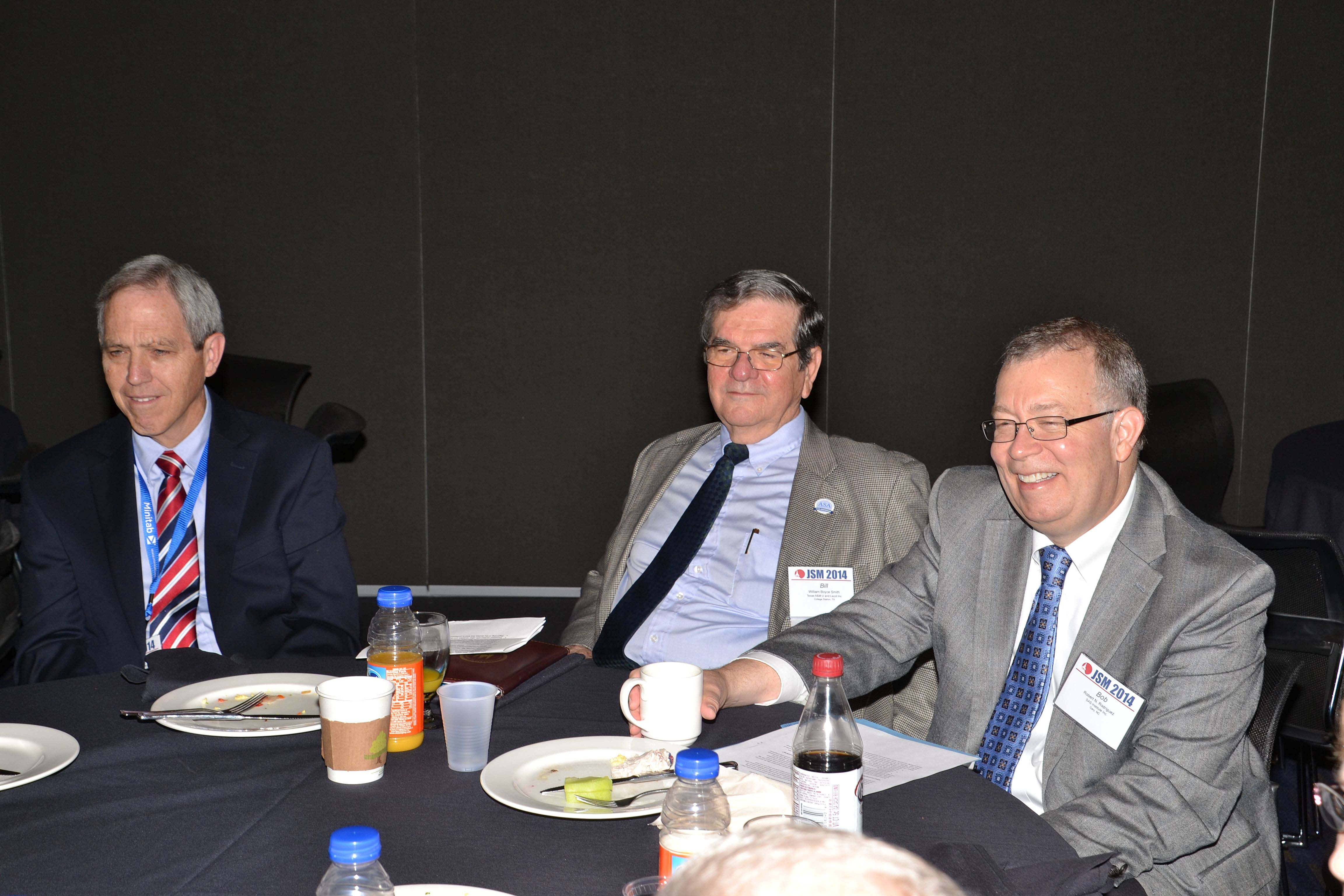 From left: Bob Mason. Bill Smith, and Bob Rodriguez participate in a roundtable discussion about the ASA