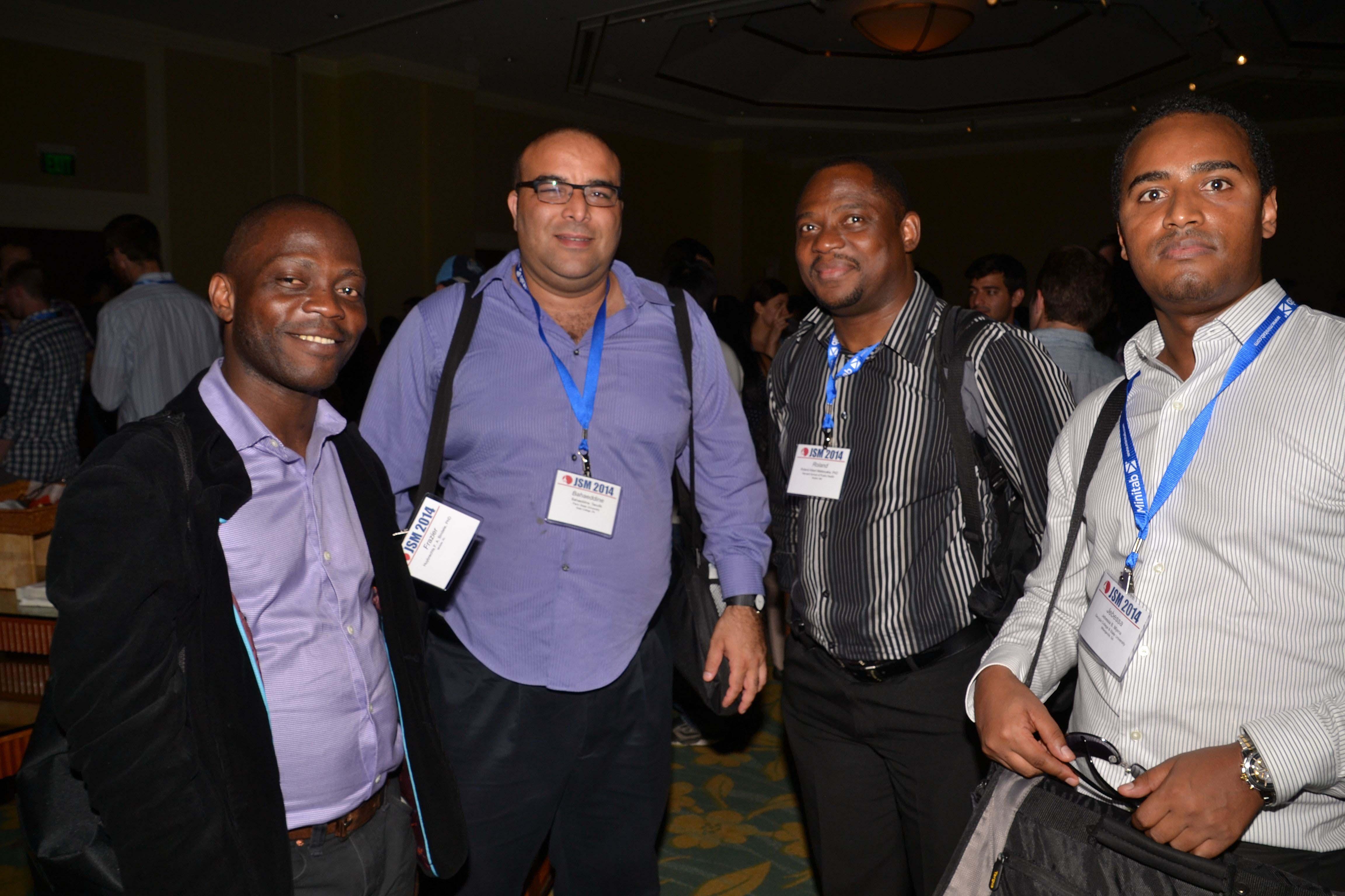 Frazier Bindele, Bahaeddine Taoufik, Roland Albert Matsouaka, and Jebessa Mijena take part in the Student Mixer