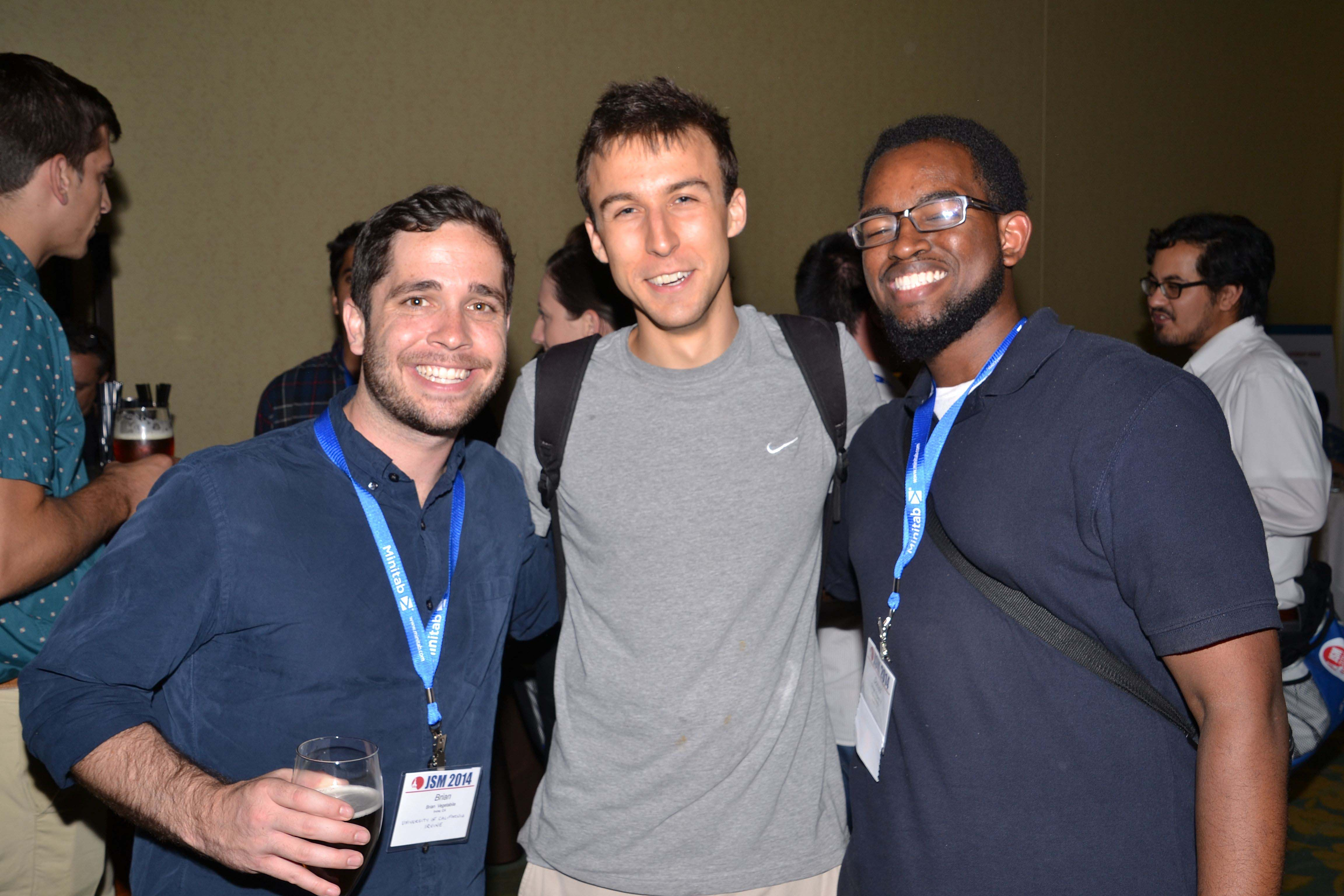 Brian Vegetabile, Ryan Scott Warnick,  and Donald Rogers II take part in the Student Mixer