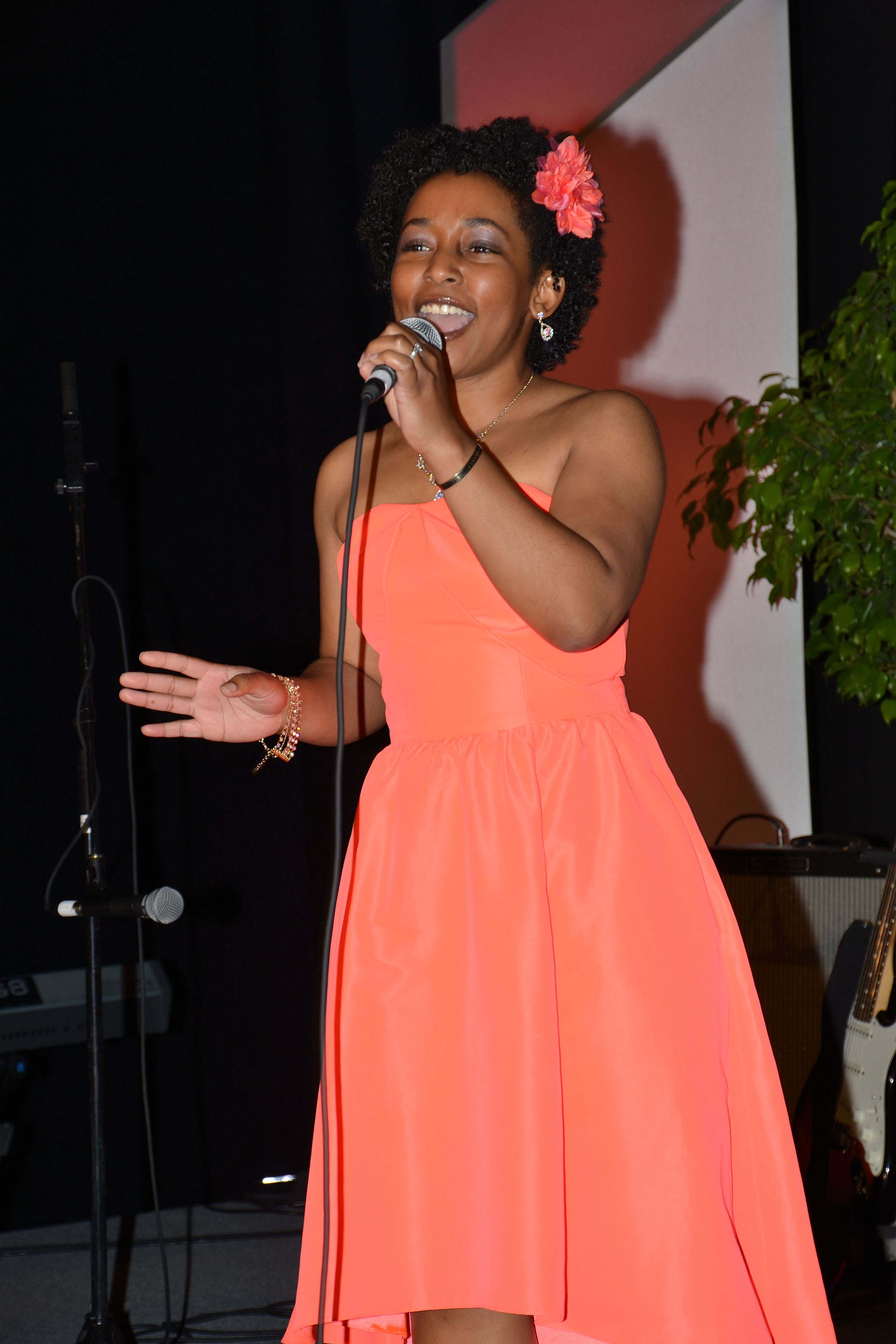 Jami Jackson, PhD statistics student at North Carolina State, performs in the ASA's Got Talent competition
