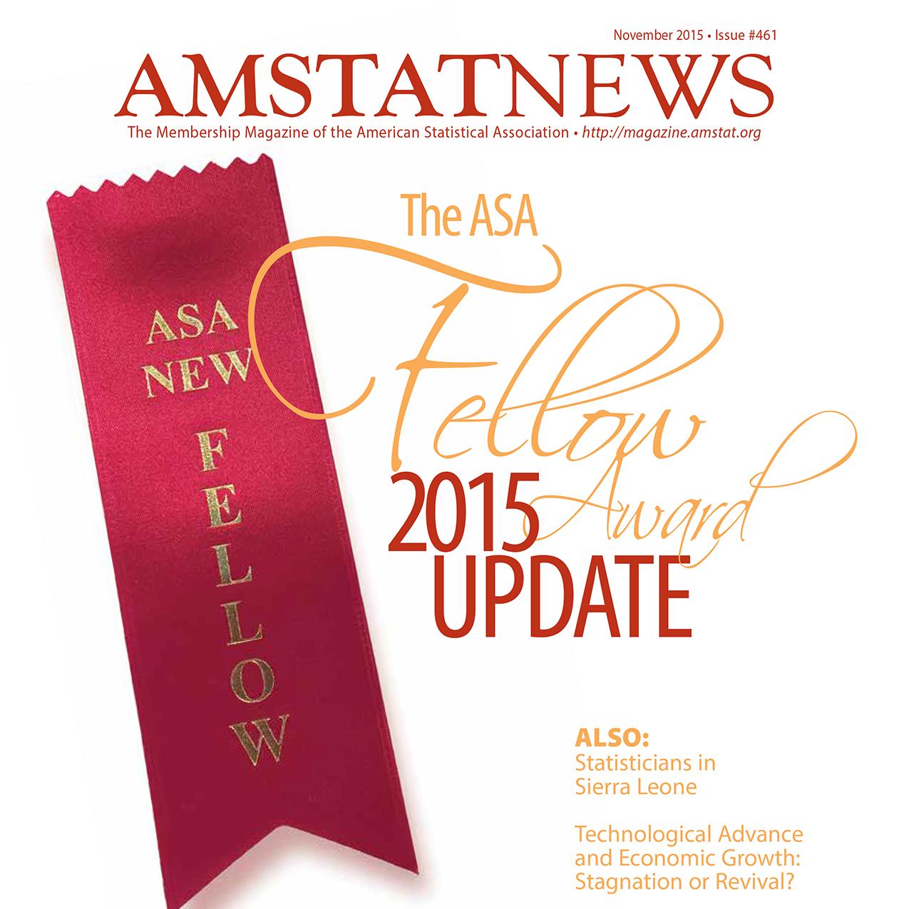 November Amstat News 2015