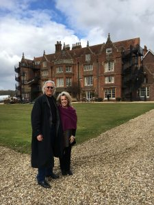 Larry and Barbara Dossey at Embley Park, the family home of Florence Nightingale, near Hampshire, England