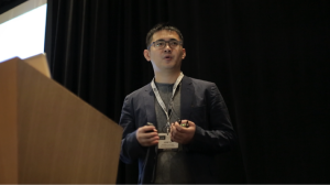 Puget Sound Chapter officer Jeremy Gu of Amazon speaks at the October Data Science Conference in Seattle.
