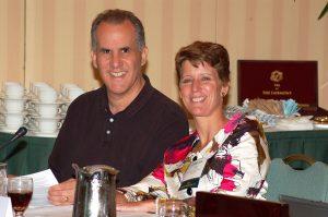 Sally Morton with 2014 ASA President Nat Schenker