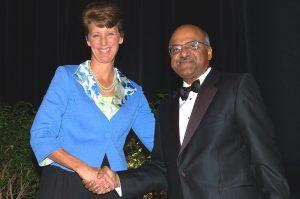 Sally Morton with 2010 ASA President Sastry Pantula