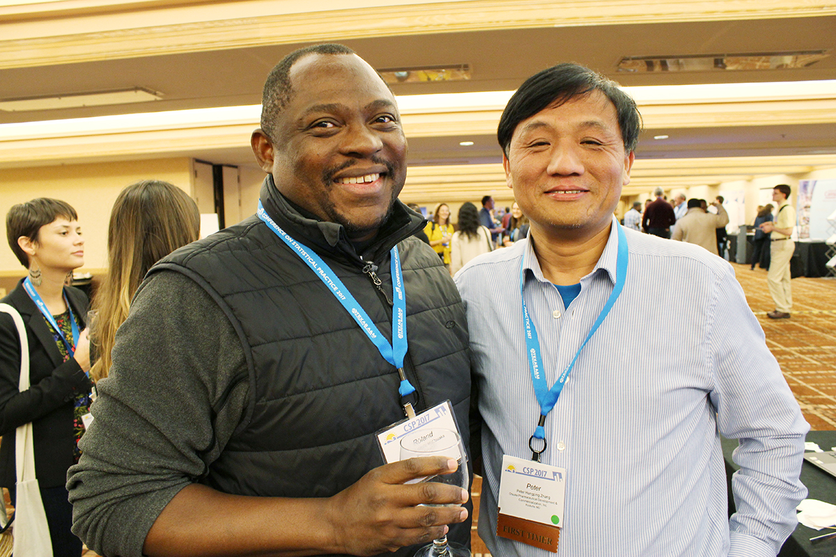 Roland Albert Matsouaka, of Duke University, and Peter Hanging Zhang, of Otsuka Pharmaceutical Development and Commercialization, Inc.