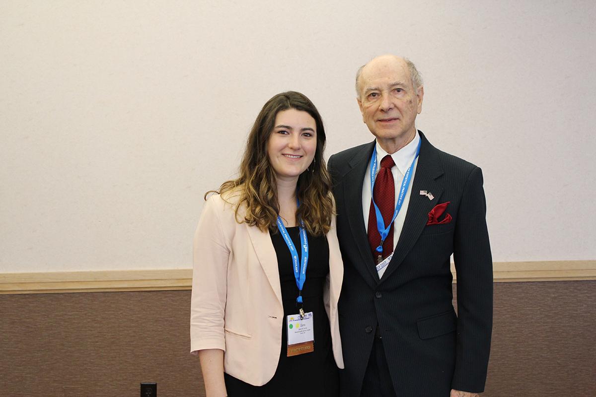 Sara Burns (winner of the Bartko scholarship) with John Bartko