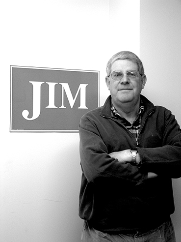 Jim, in his office, 2005