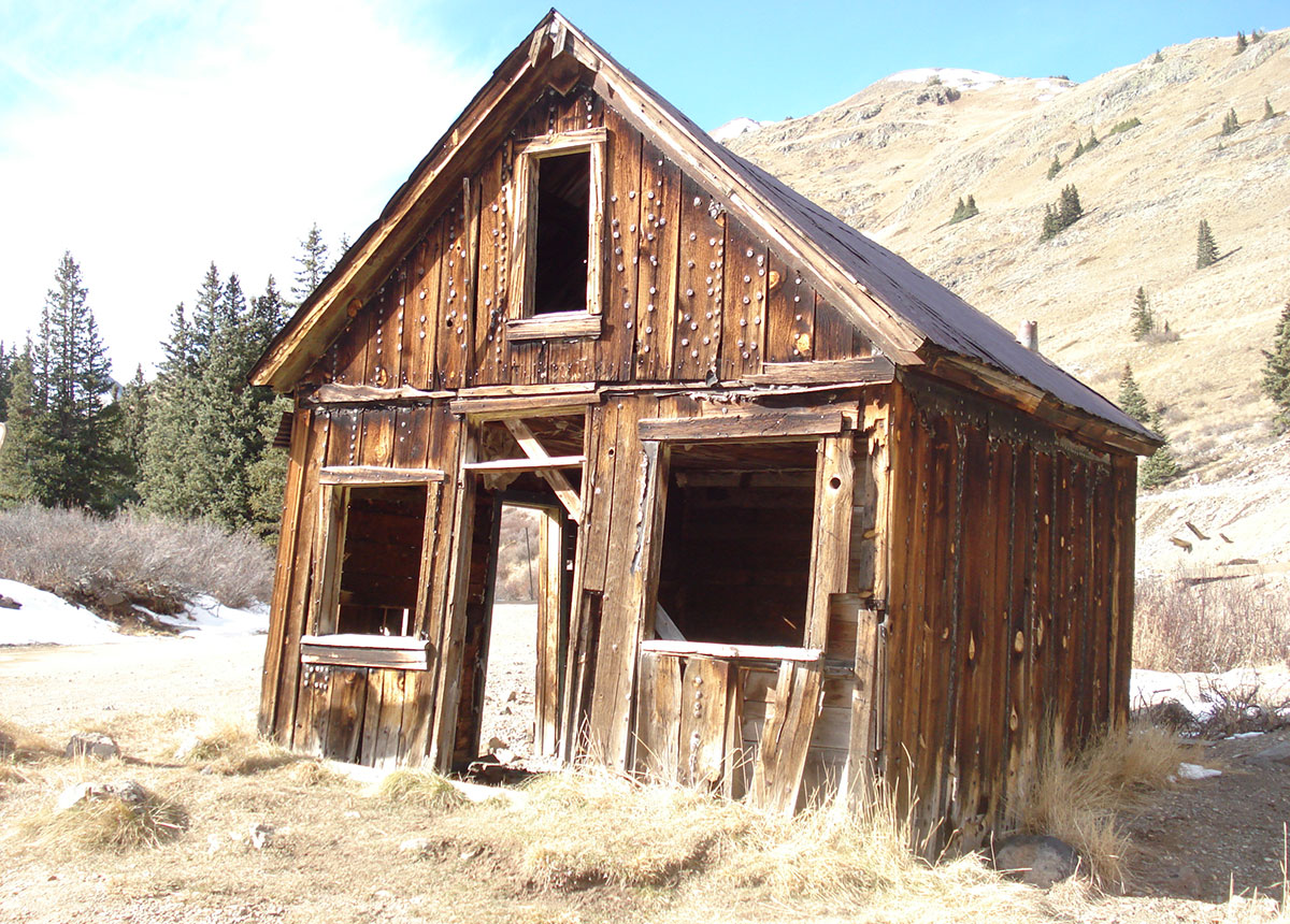 An abandoned miner's cabin in Animas Forks, Colorado