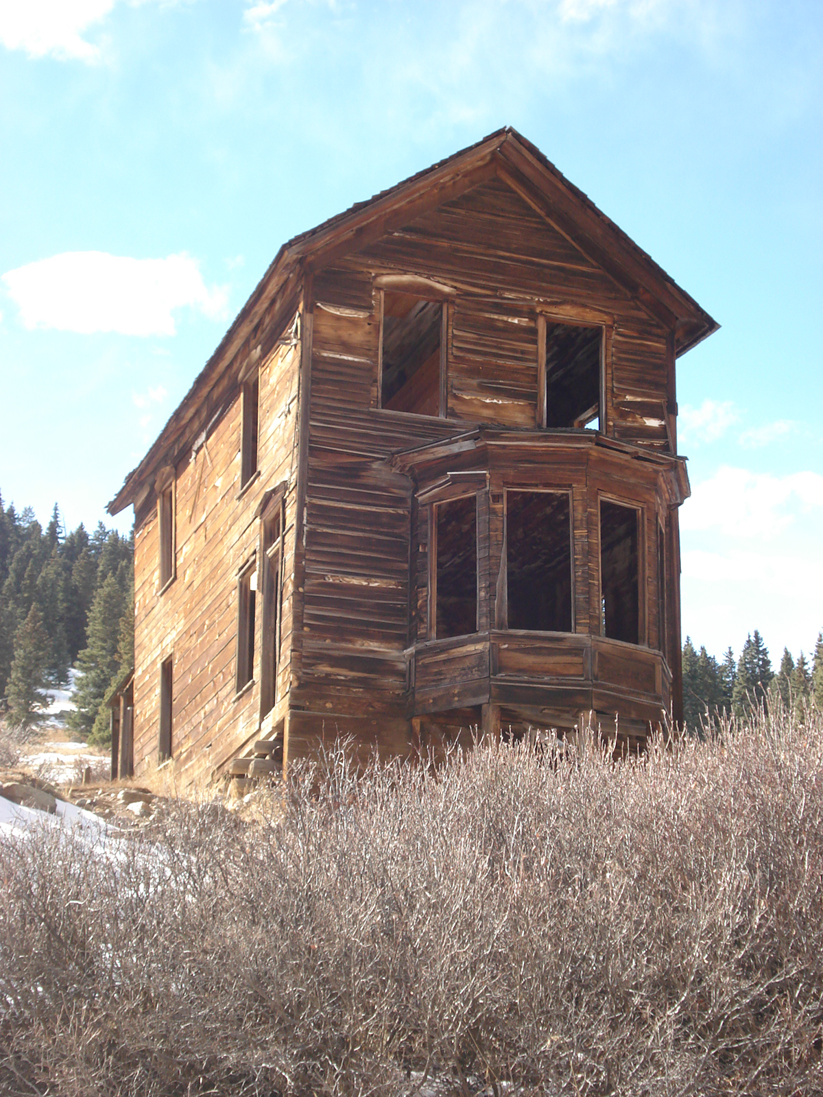 An empty home in Animas Forks, Colorado