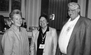 Katherine Wallman, Barbara Bailar, and John Bailar at the ASA Longtime Member Reception during the Joint Statistical Meetings in 2001