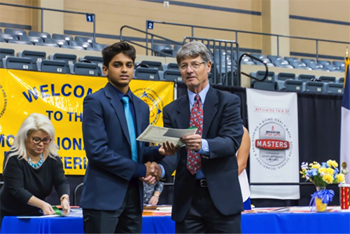 "Second Place and $75 Adithya Mummidi, Keystone Upper High School ""Gene Expression Profiles of Subcutaneous Adipose Tissue, Skeletal Muscle Tissue, and White Blood Cells in Pre-Diabetic and Normoglycemic Mexican-American Individuals"""