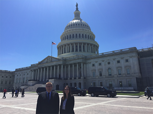 Mark and Stacey Culp on Capitol Hill (Photo by Amy Nussbaum)