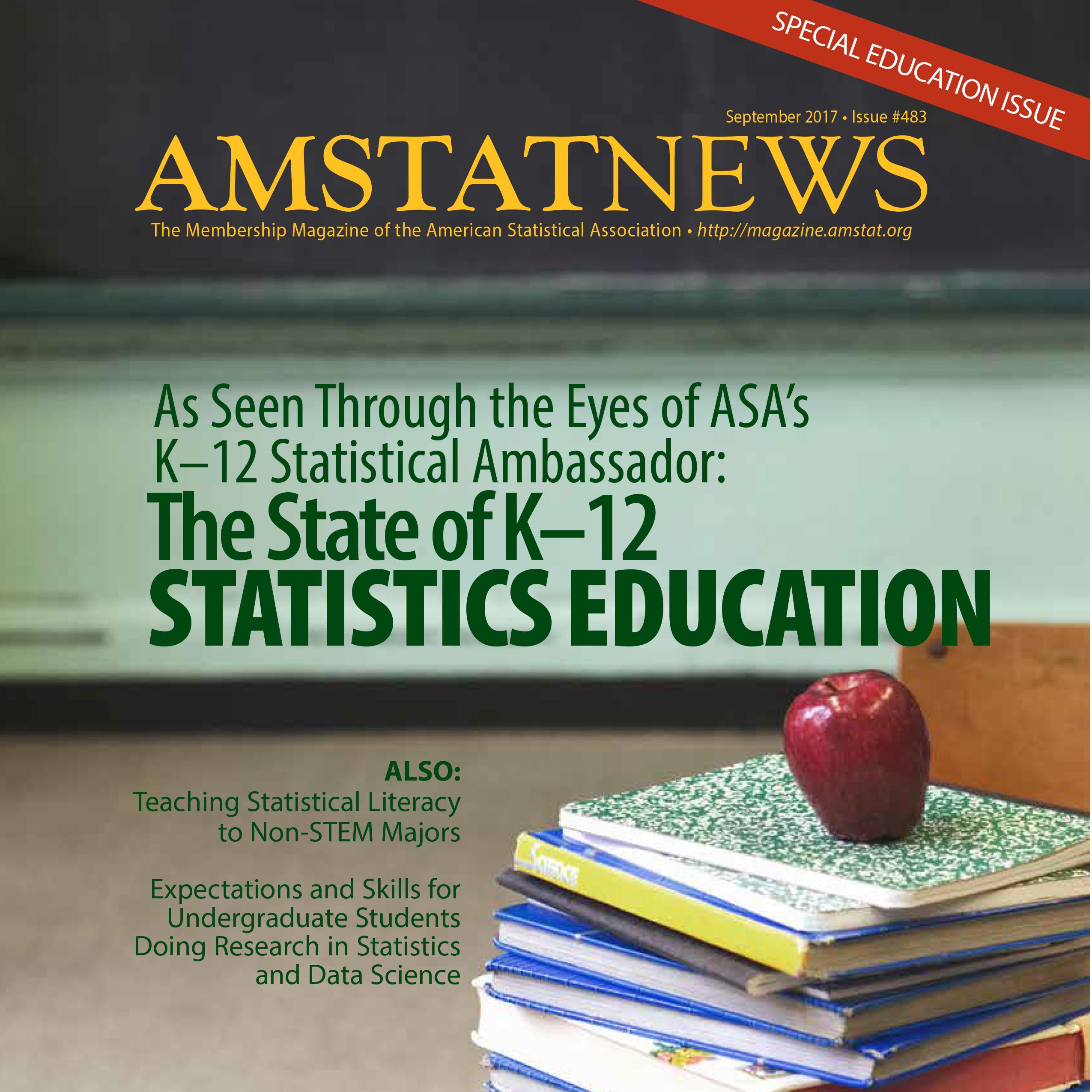 September Amstat News 2017
