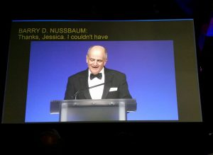 ASA President Barry Nussbaum delivers the president's address at this year's JSM in Baltimore.