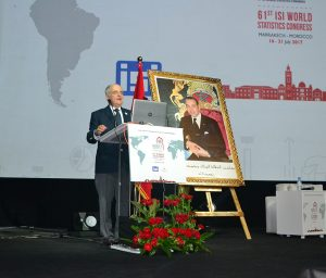 ASA President Barry Nussbaum gives an invited presentation at the 61st International Statistical Institute's World Statistics Congress in Marrakech, Morocco, in mid-July.