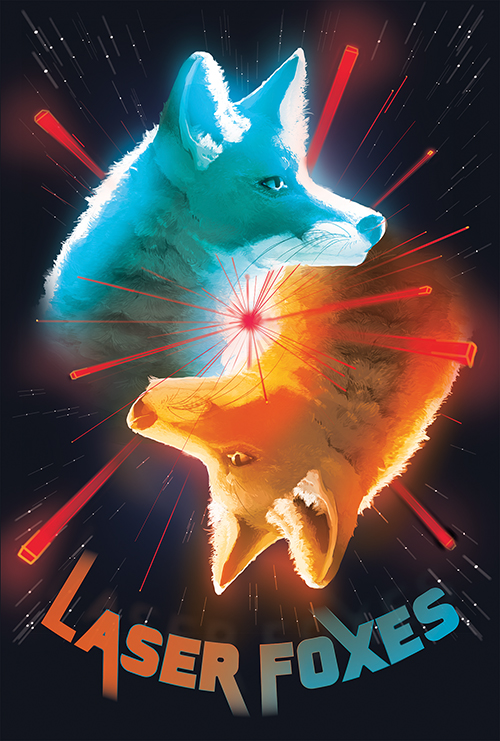 Posters illustrating the video games created by Laberlabs. Laser Foxes was illustrated by Danny Schmidt.